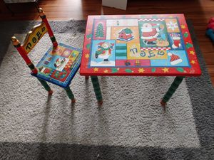 Christmas kids table and chair Noel for Sale in Billerica, MA