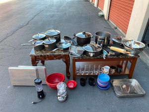 Pots, pants, bowls, cups, mugs, knives, oven pans, blender, grinder, chopper, etc. ( price is negotiable) for Sale in San Diego, CA