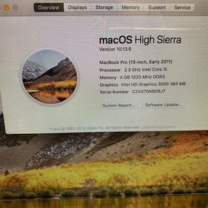 "2011 MacBook Pro 13"" for Sale in Fort Lauderdale, FL"