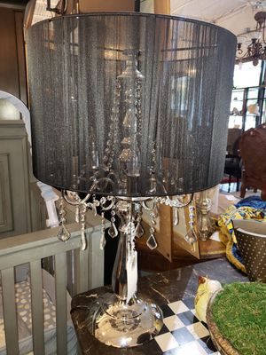 Chrome Lamp w/ Crystals for Sale in Wilton Manors, FL