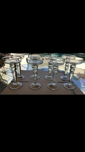 """8 new glass candles holders 9"""" x 5"""" (real price $18 for each total $144 for 8) $65 for all for Sale in Gilbert, AZ"""