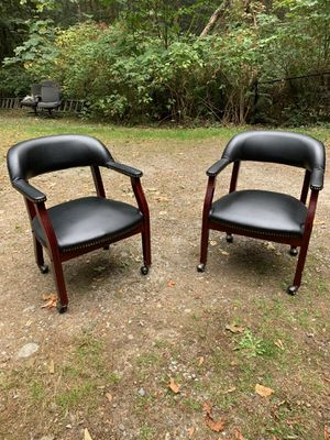 Two office chairs with rollers. for Sale in Maple Valley, WA