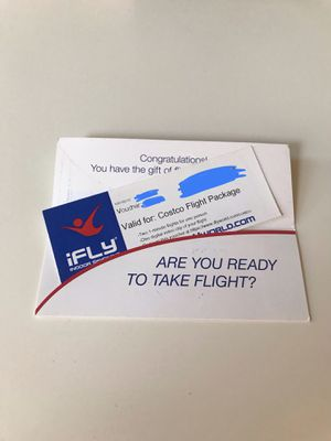 iFly Gift Certificate (2 flights and digital video clip) for Sale in Portland, OR