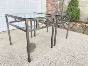 Metal & Glass Side / End Tables for Sale in Wenatchee, WA