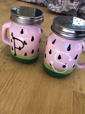 Hand painted watermelon salt & pepper shakers! for Sale in Santa Clarita, CA