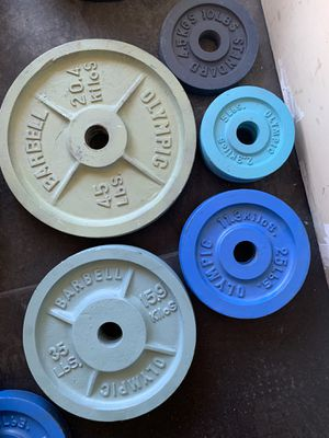 Standard Barbell Olympic weight set(s) for Sale in Parker, CO