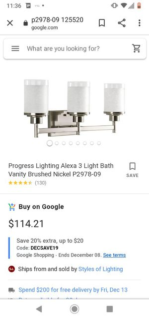 Brand new light fixtures for Sale in Denver, CO