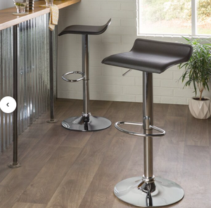 Black swivel barstool chairs set of two for Sale in Fresno, CA