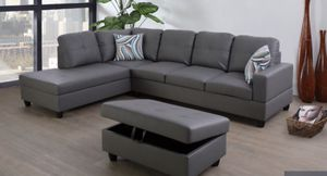 Sectional couch with ottoman for Sale in Oakland, CA