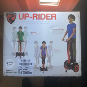 NEW- Rollplay 12 Volt Up-Rider 4 Wheeled Scooter 360 Degree Turning with Braking for Sale in Minneapolis, MN