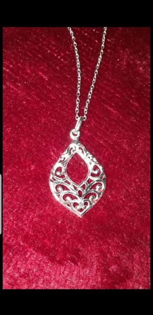 STERLING SILVER TEARDROP NECKLACE 18INCHES for Sale in Tracy, CA