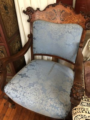 Pair of antique hand carved chairs for Sale in West Palm Beach, FL