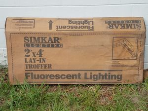 2 Fluorescent Flat Panel 2x4 Light Fixture for Sale in Tampa, FL