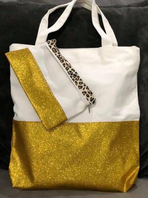 BRAND NEW GLITTER TOTES and MATCHING BAG - liquidating. WAS $29. NOW $12. Still in packaging. We have 8 colors. Check out ALL of our posts! for Sale in Queen Creek, AZ