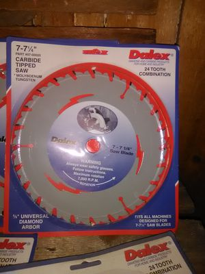 24 tooth carbon blade saw blades for Sale in Quincy, IL