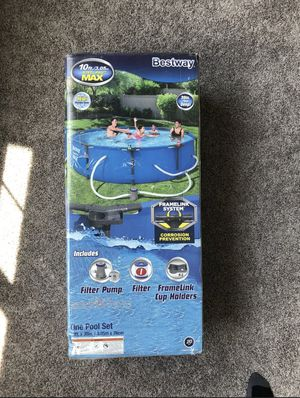 """Bestway 10' x 30"""" Steel Pro Max Round Above Ground Swimming Pool W/ Pump & Filter for Sale in Lawrenceville, GA"""