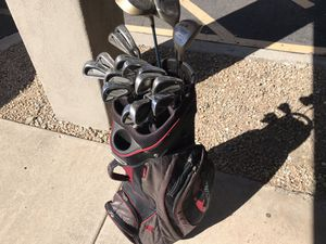 Sun Mountain Golf 14-way cart bag with 2 sets of clubs Dunlop & Lynx for Sale in Mesa, AZ
