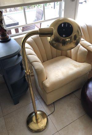 Retro brass floor lamp for Sale in Oakland Park, FL
