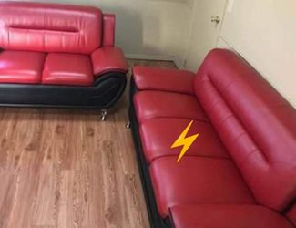 🔥39$ Down Payment🔥Enna Red/Black Sofa & Loveseat for Sale in Reisterstown,  MD