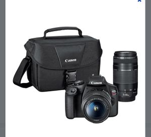 Canon - EOS Rebel T7 DSLR Video Two Lens Kit with EF-S 18-55mm and EF 75-300mm Lenses for Sale in East Haven, CT