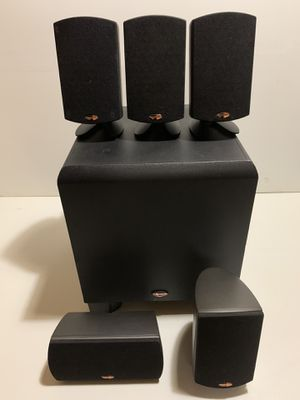 Klipsch subwoofer and surround . for Sale in Chicago, IL