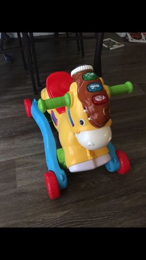 2 in 1 riding horse v tech toy for kids baby for Sale in Alexandria, VA