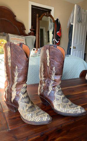 Black Jack Snake Skin boots 9.5 and belt for Sale, used for sale  Atlanta, GA