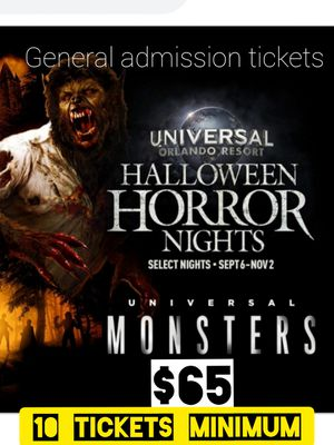 Tickets. Universals. Horror day. For bigg group of people. for Sale in Los Angeles, CA