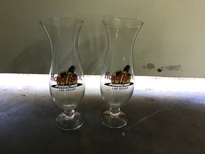 Hard Rock casino Hurricane collection glasses for Sale in Las Vegas, NV