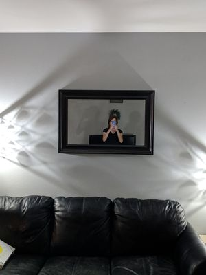 Espresso wall mirror for Sale in St. Louis, MO
