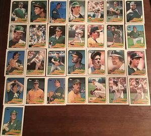 Topps 1989 Oakland Athletic Cards for Sale in Wichita, KS