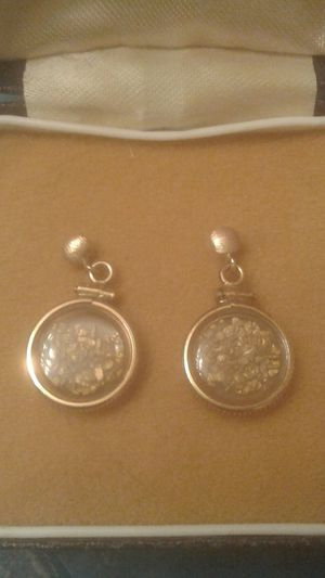 14k gold ear rings with real gold nuggets for Sale in Idaho Falls, ID