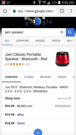 Jam Bluetooth Speaker for Sale in Columbus, OH