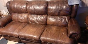 Leather couch for Sale in Macon, GA