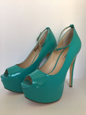 "Steve Madden Brakup Teal Patent Leather Women's 6"" Heels Size 9 for Sale in Inglewood, CA"