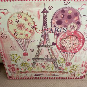 Pink Eiffel Tower French Paris Backdrop Hanging Art Piece for Sale in San Diego, CA