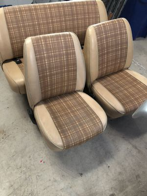 1971-1978 Dodge Tradesman Van B-Series Factory Bucket Seats and Middle Seat for Sale in Fresno, CA