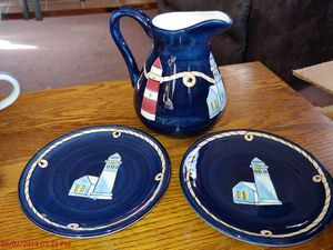 Decorative pitcher and plates for Sale in Silver Spring, MD