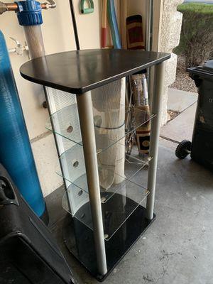 Modern shelf with glass shelves for Sale in Henderson, NV