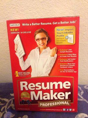 Resume maker professional for Sale in Modesto, CA