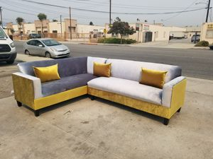 NEW 7X9FT GOLD FABRIC COMBO SECTIONAL COUCHES for Sale in Bakersfield, CA