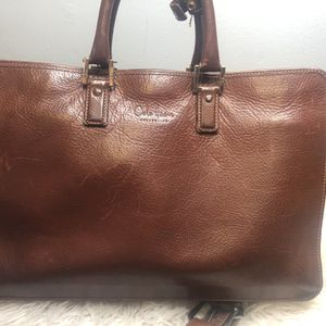 Cole haan Briefcase Leather Storage Luggage Work for Sale in Minneapolis, MN