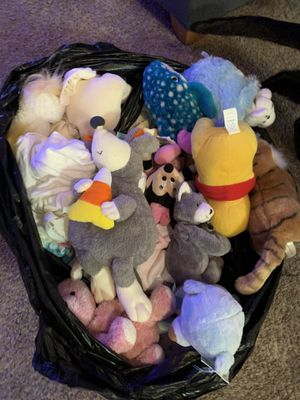 Assorted stuffed toys / baby clothes / XL bear for Sale in Costa Mesa, CA