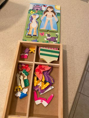 Melissa and Doug princess magnetic dress up play set for Sale in Ashburn, VA