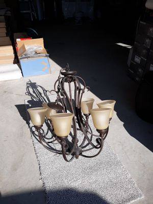 6 lamp table pendant light fixture oil rubbed bronze for Sale in Lebanon, TN