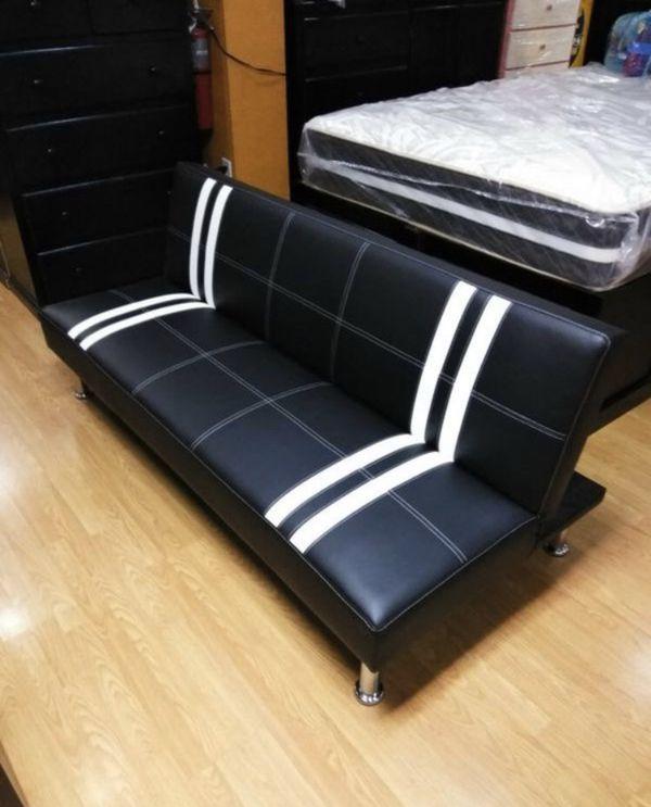 Brand new leather futon sofa/sofa bed
