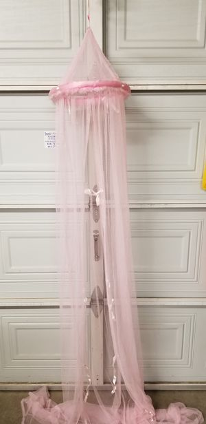 Pink princess canopy tent $15 for Sale in Lancaster, CA