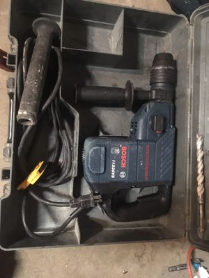 Bosch hammer sds plus and bits for Sale in Seal Beach, CA