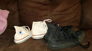 2 pairs of converse for Sale in Pittsburgh, PA