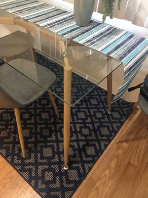 Modern style glass table for Sale in Colton, CA